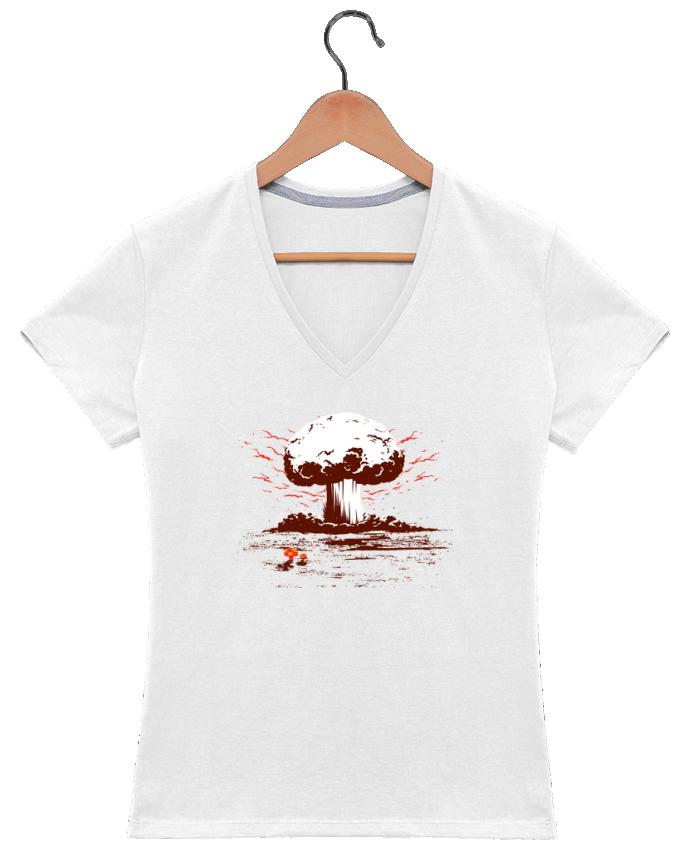 T-shirt Col V Femme PAPA par flyingmouse365