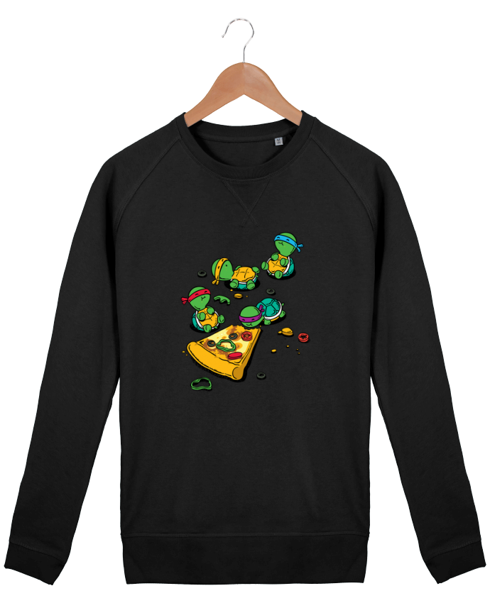 Sweat Col Rond Homme Stanley Strolls Pizza lover par flyingmouse365