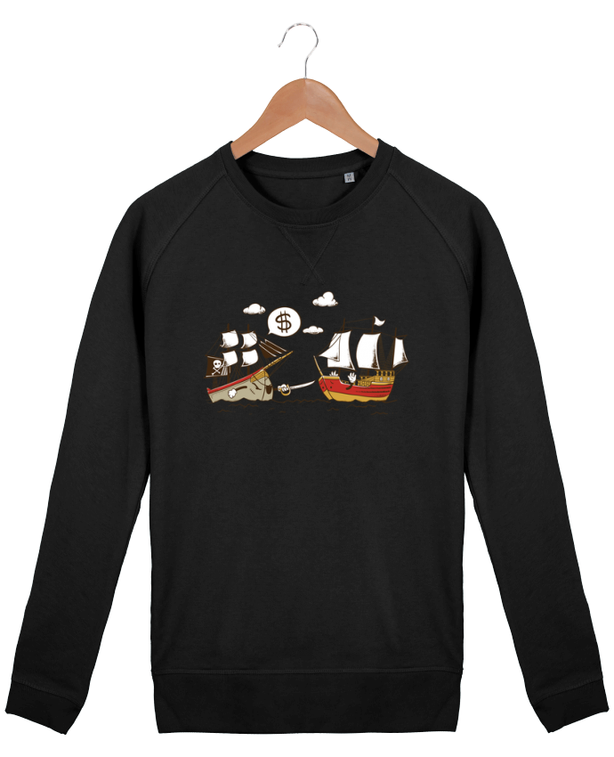 Sweat Col Rond Homme Stanley Strolls Pirate par flyingmouse365