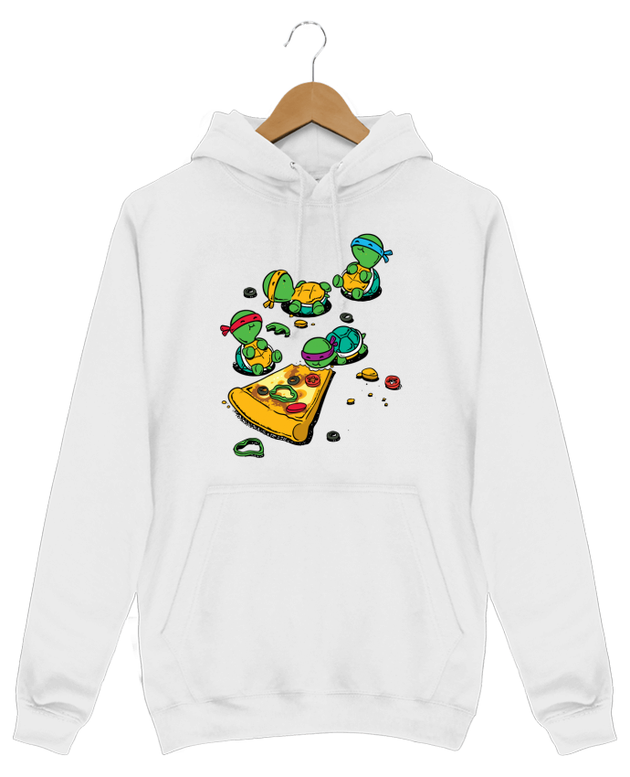Sweat Shirt à Capuche Homme Pizza lover par flyingmouse365