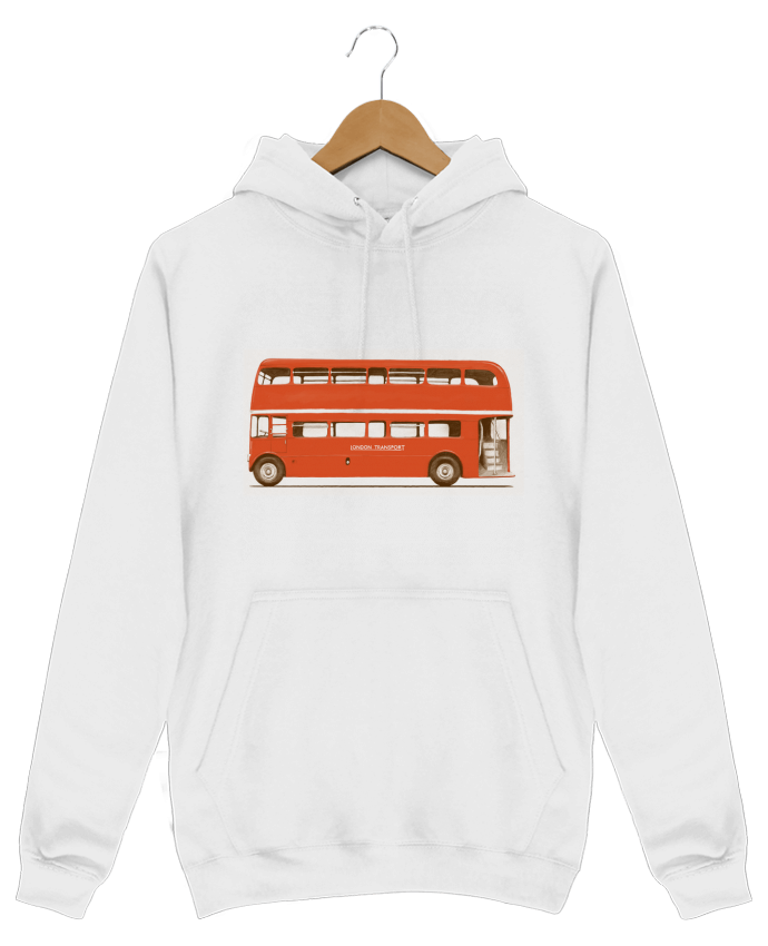 Sweat Shirt à Capuche Homme Red London Bus par Florent Bodart