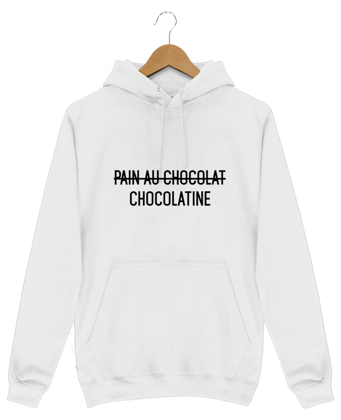 Sweat Shirt à Capuche Homme Chocolatine par tunetoo