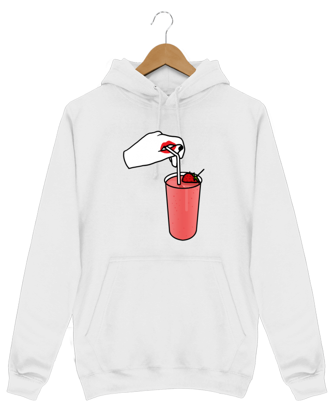 Sweat Shirt à Capuche Homme Milk shake par tattooanshort