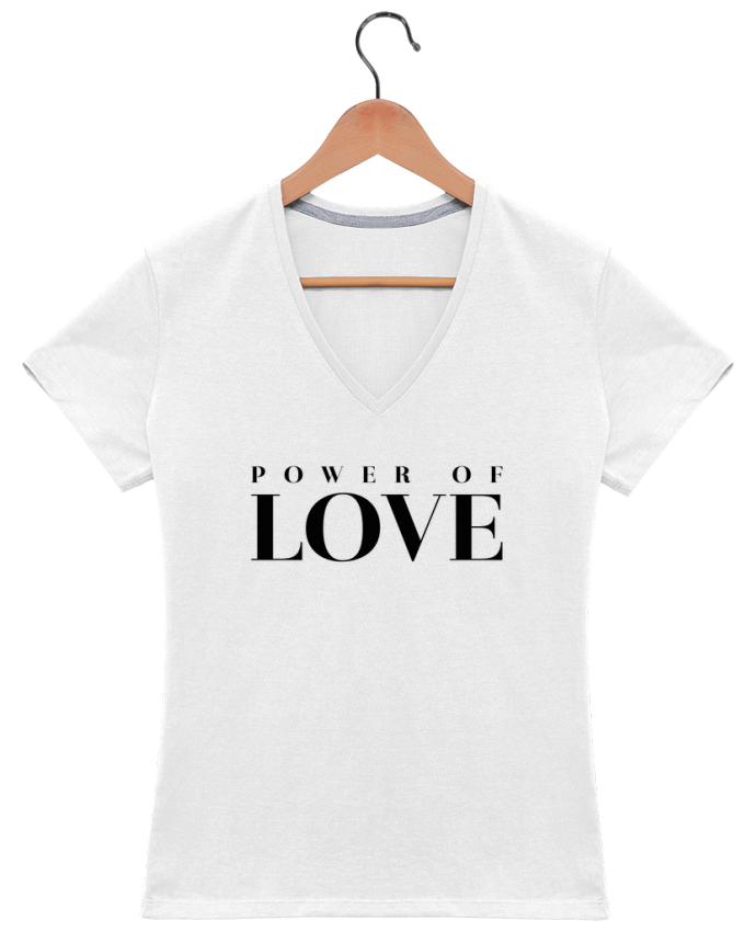 T-shirt Col V Femme Power of Love par tunetoo
