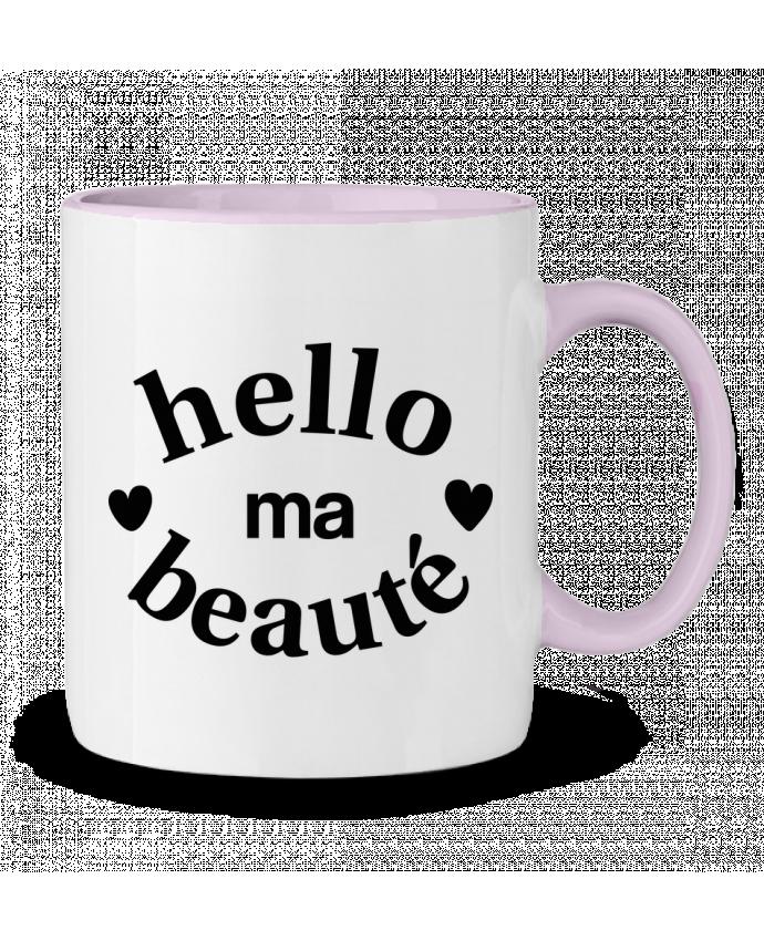 Mug en Céramique Bicolore Hello ma beauté tunetoo