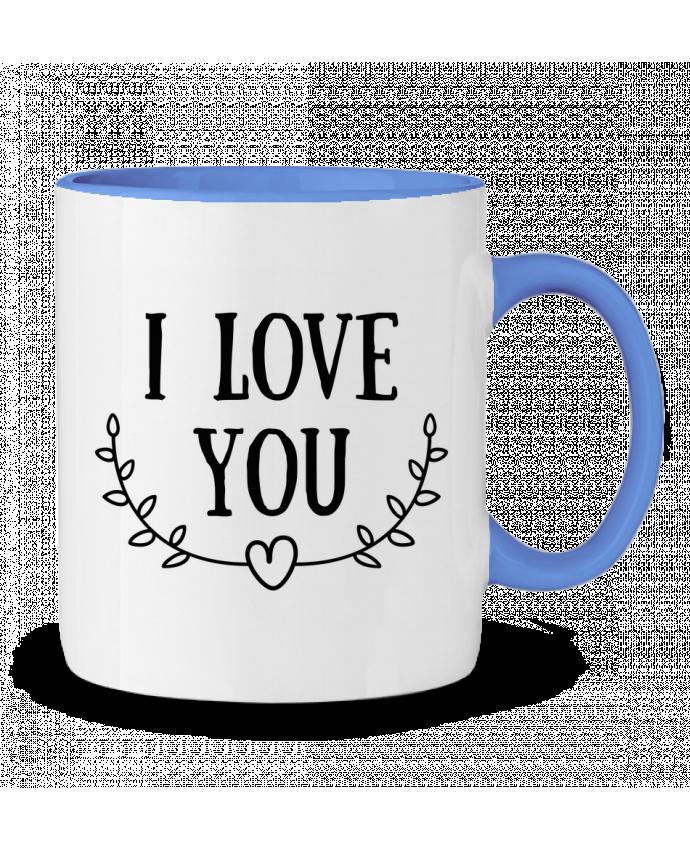 Mug en Céramique Bicolore I love you tunetoo