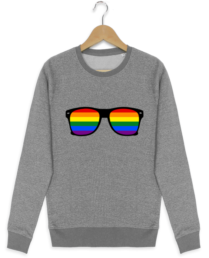 Sweat-shirt Stanley stella seeks Lunettes Gay pride rainbow par Benichan