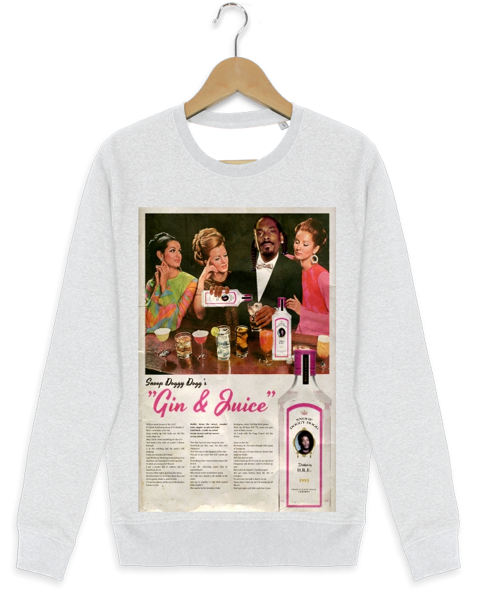 Sweat-shirt Stanley stella modèle seeks Gin & Juice par Ads Libitum