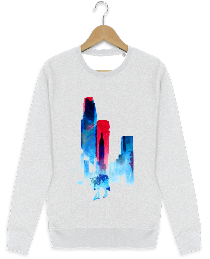 Sweat-shirt Stanley stella modèle seeks The wolf of the city par robertfarkas