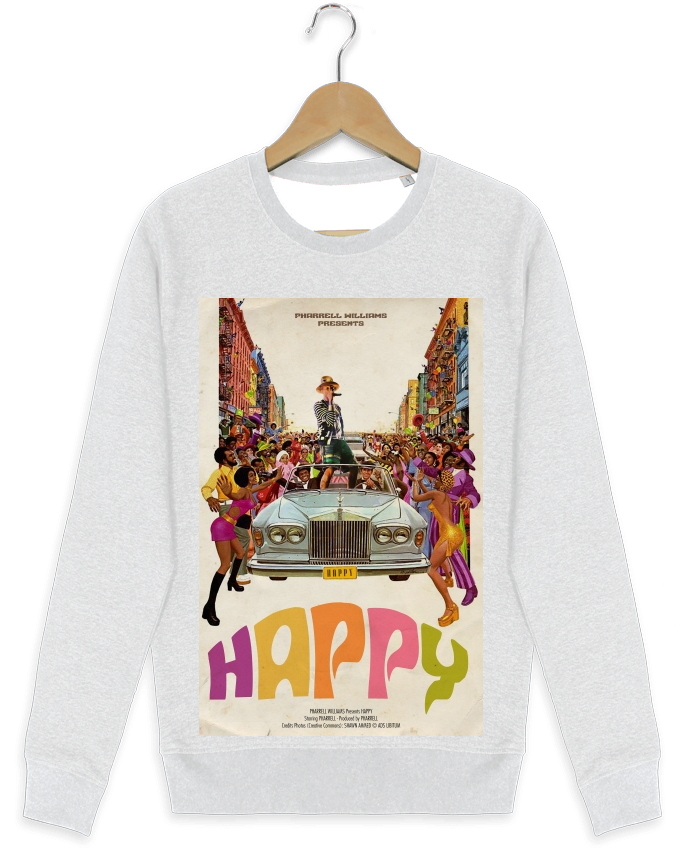 Sweat-shirt Stanley stella modèle seeks Happy par Ads Libitum