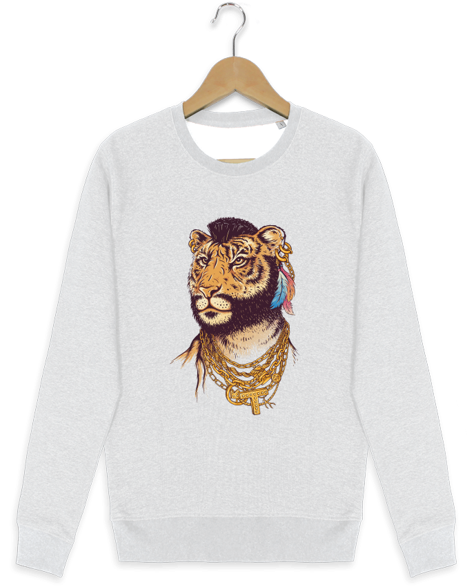 Sweat-shirt Stanley stella modèle seeks Mr tiger par Enkel Dika