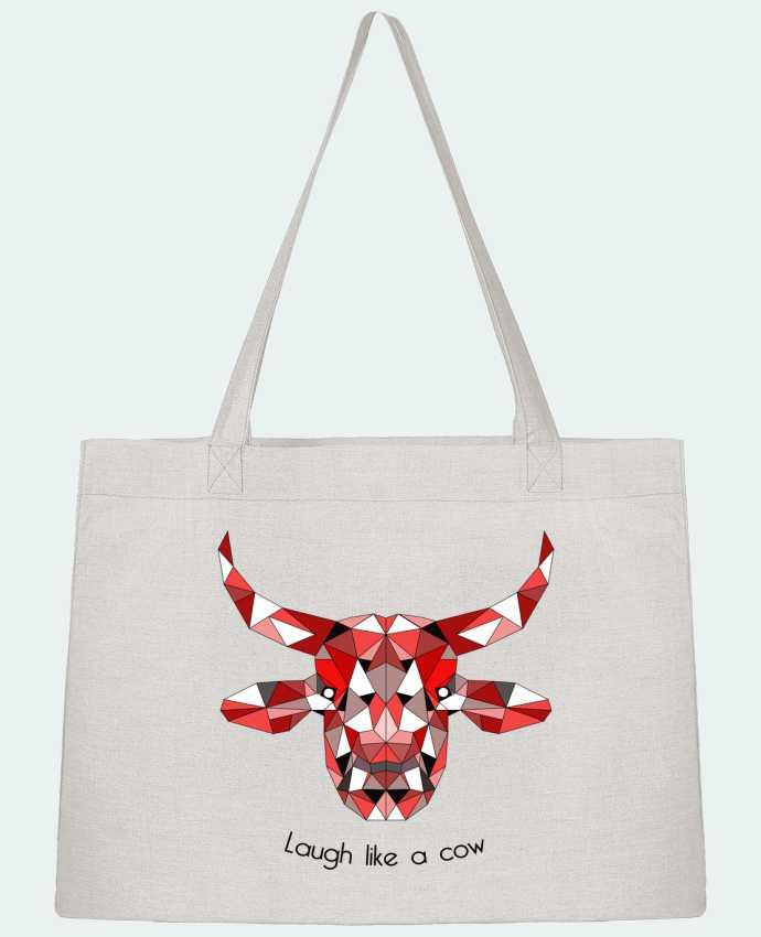 Sac Cabas Shopping Stanley Stella Low Poly Cow par CycieAndThings