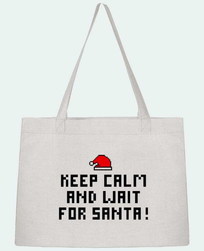 Sac Cabas Shopping Stanley Stella Keep calm and wait for Santa ! par tunetoo