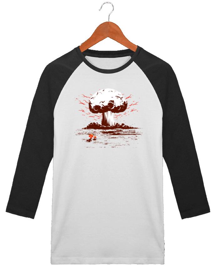 T-Shirt Stanley Stella baseball col rond unisex PAPA par flyingmouse365