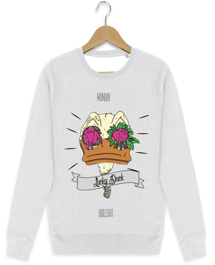 Sweat-shirt Stanley stella modèle seeks Lucky Duck par Killowcka