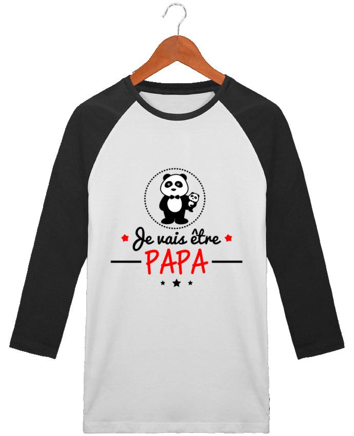 T-Shirt Stanley Stella baseball col rond unisex Bientôt papa , Futur père par Benichan