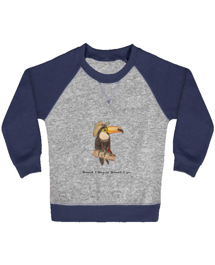 Sweat Shirt Bébé Col Rond Manches Raglan Contrastées TOUCAN par La Paloma