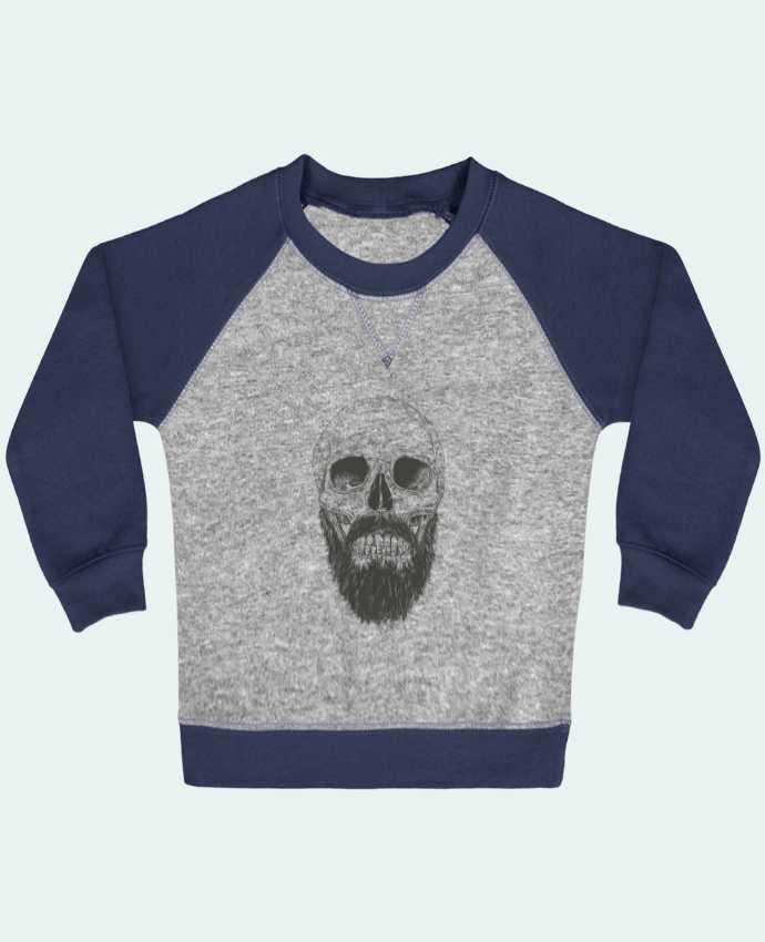Sweat bébé manches contrastée Beard is not dead par Balàzs Solti