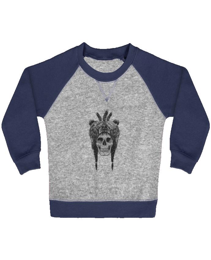 Sweat Shirt Bébé Col Rond Manches Raglan Contrastées Dead Shaman par Balàzs Solti