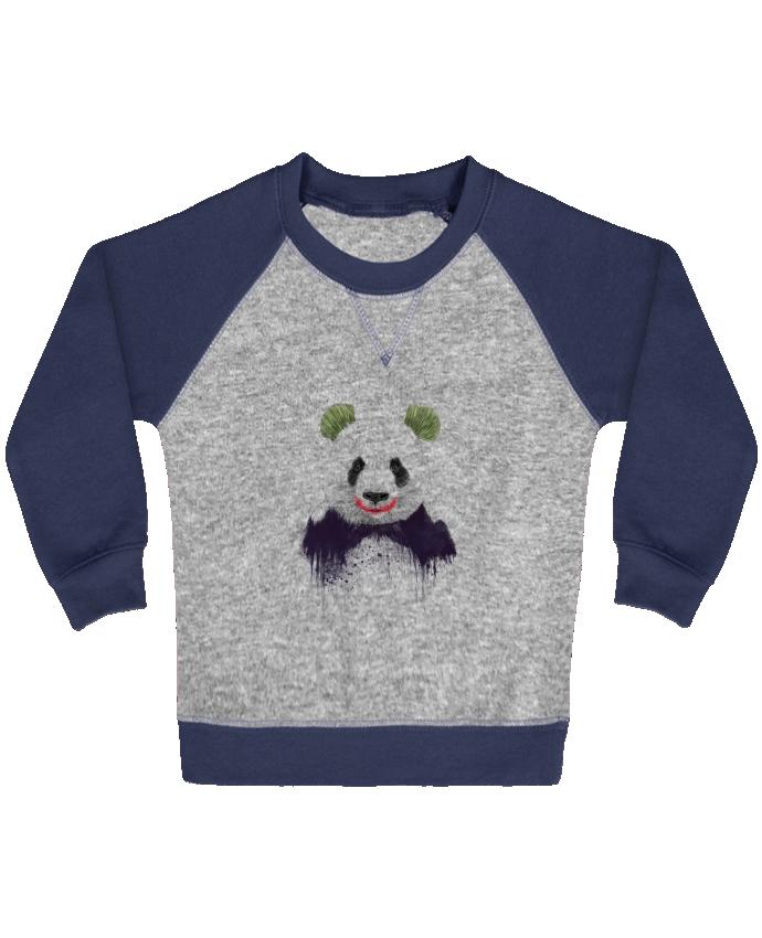 Sweat Shirt Bébé Col Rond Manches Raglan Contrastées Jokerface par Balàzs Solti