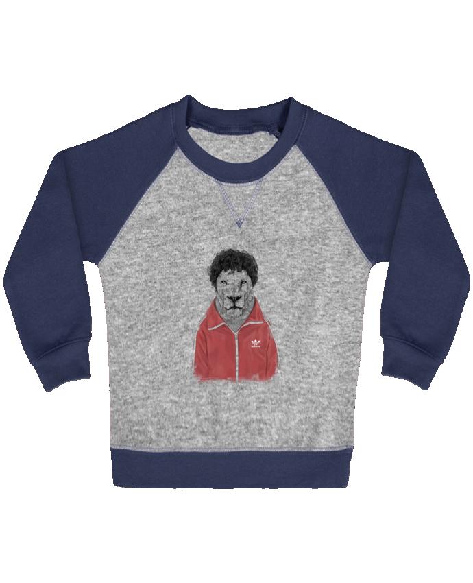 Sweat Shirt Bébé Col Rond Manches Raglan Contrastées Chas par Balàzs Solti