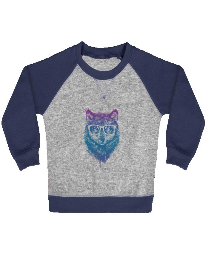 Sweat Shirt Bébé Col Rond Manches Raglan Contrastées whos_your_granny par Balàzs Solti
