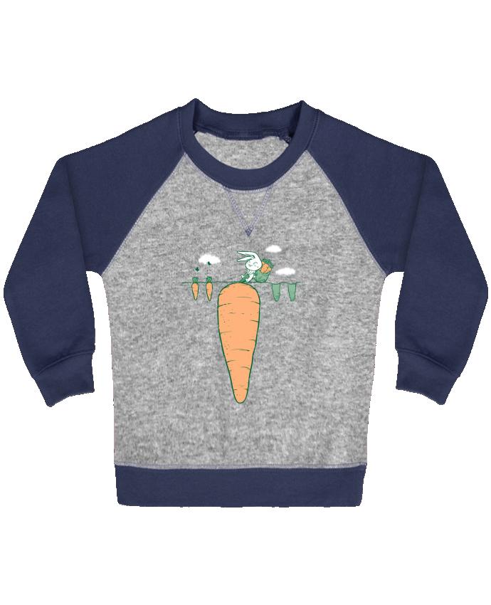 Sweat Shirt Bébé Col Rond Manches Raglan Contrastées Harvest par flyingmouse365