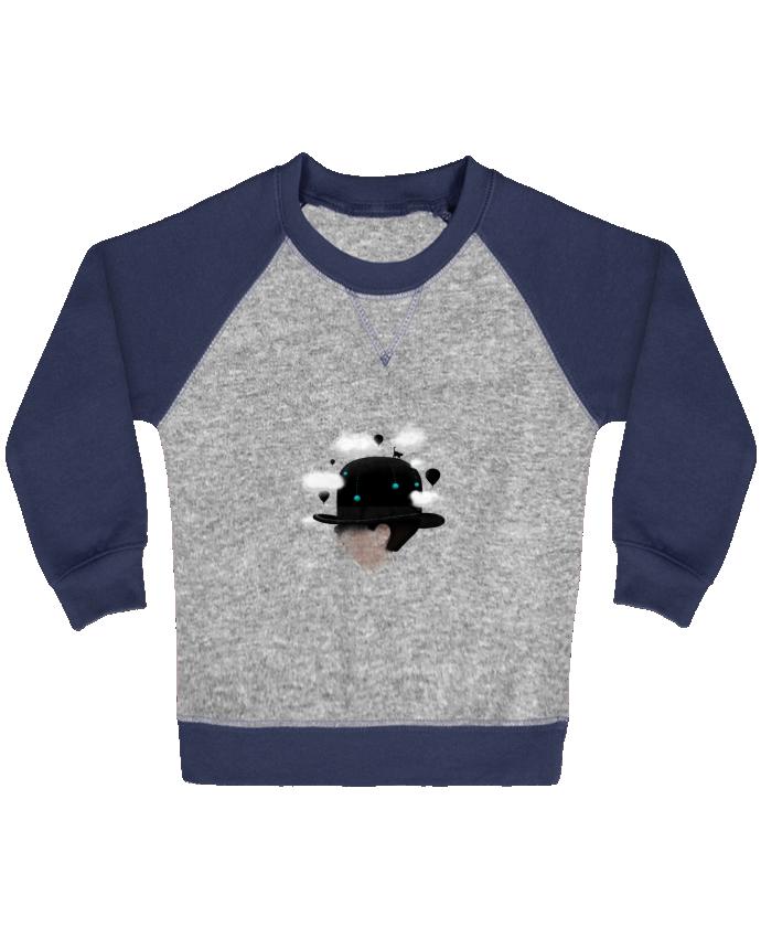 Sweat Shirt Bébé Col Rond Manches Raglan Contrastées Dreaming par Florent Bodart