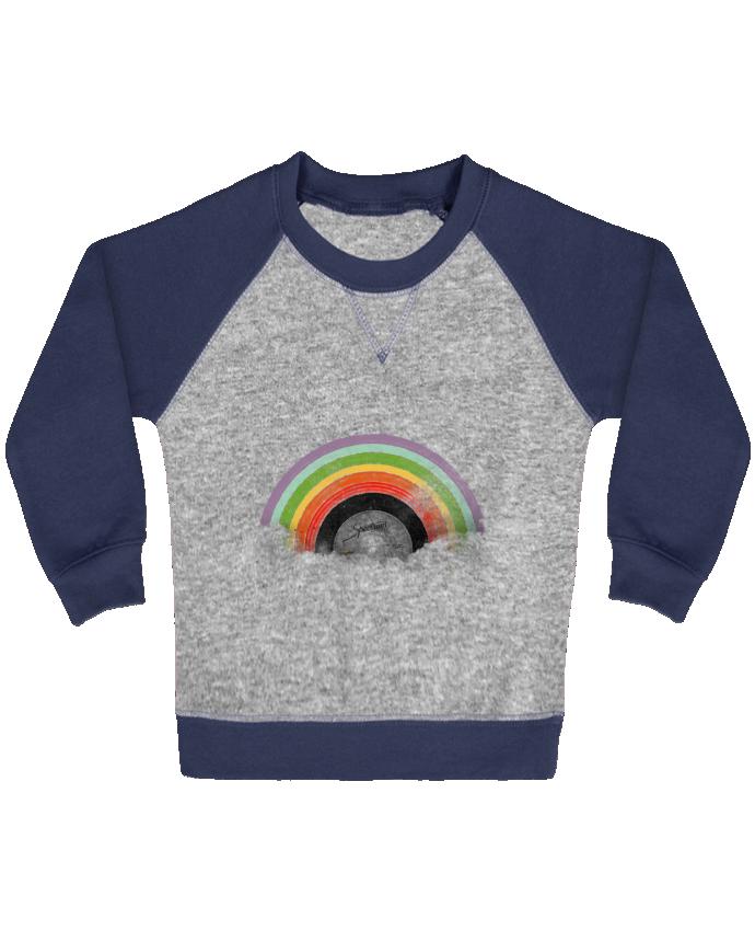 Sweat Shirt Bébé Col Rond Manches Raglan Contrastées Rainbow Classics par Florent Bodart