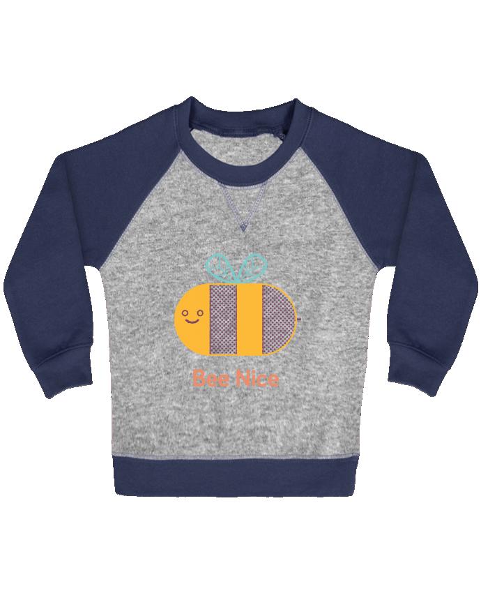 Sweat Shirt Bébé Col Rond Manches Raglan Contrastées BeeNice par chriswharton