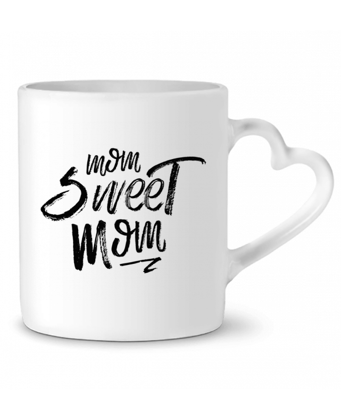 Mug Coeur Mom sweet mom par tunetoo