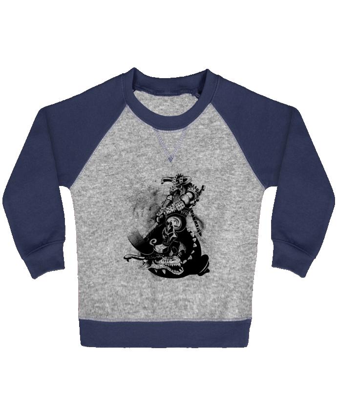 Sweat Shirt Bébé Col Rond Manches Raglan Contrastées Viking par Anonymous 30168ef3460f