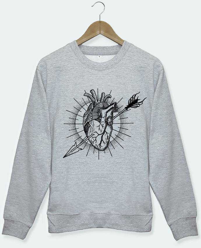 Sweat gris Heart Arrow Maxim Lainé