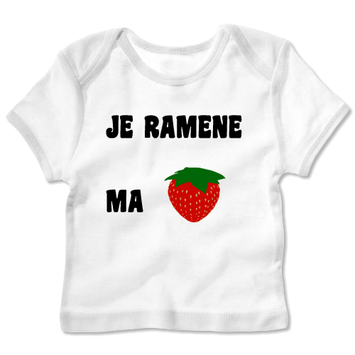 Tee Shirt Bébé Manches Longues Bébé Blanc Imprimé Je Ramèn