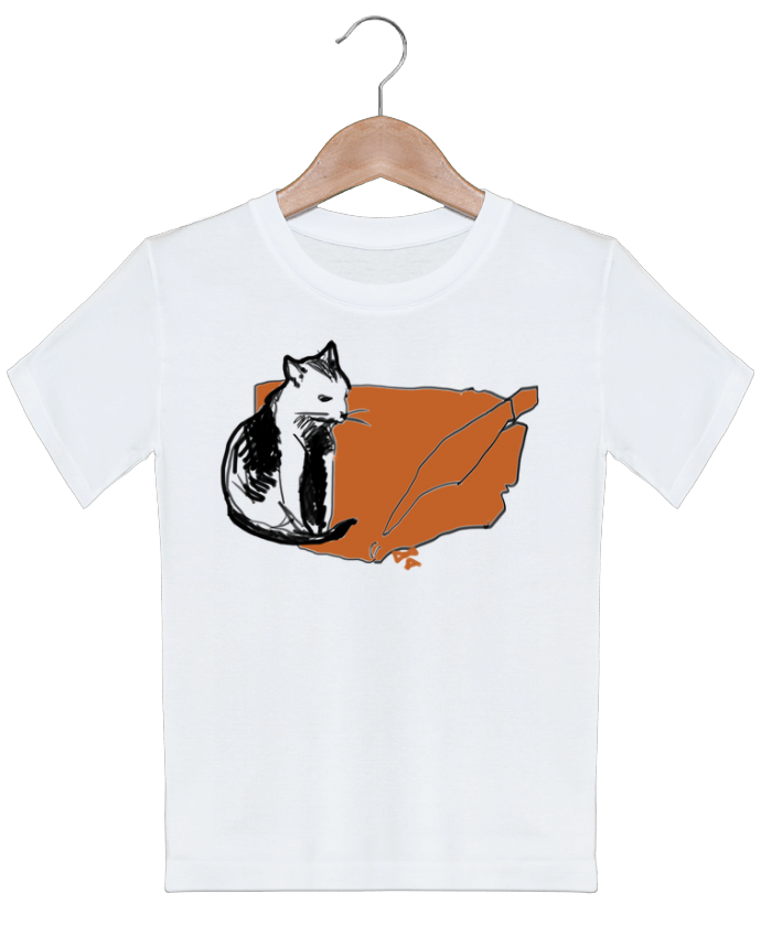 t shirt enfant chat sur une couverture orange chez alice. Black Bedroom Furniture Sets. Home Design Ideas