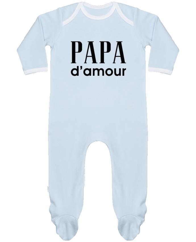 Pyjama Bébé Manches Longues Contrasté Papa d'amour par tunetoo
