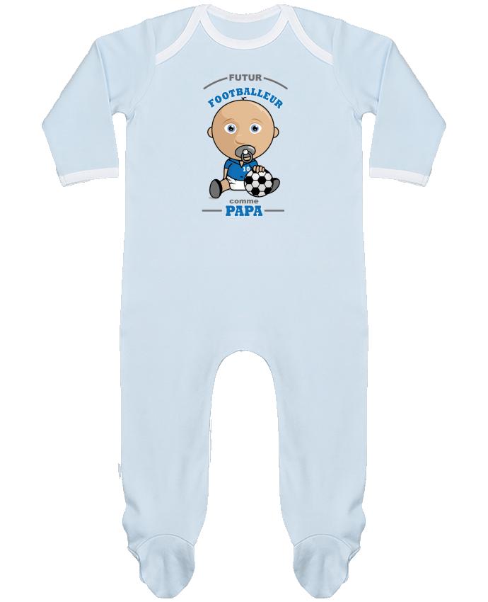 Pyjama Bébé Manches Longues Contrasté Futur Footballeur comme papa par GraphiCK-Kids