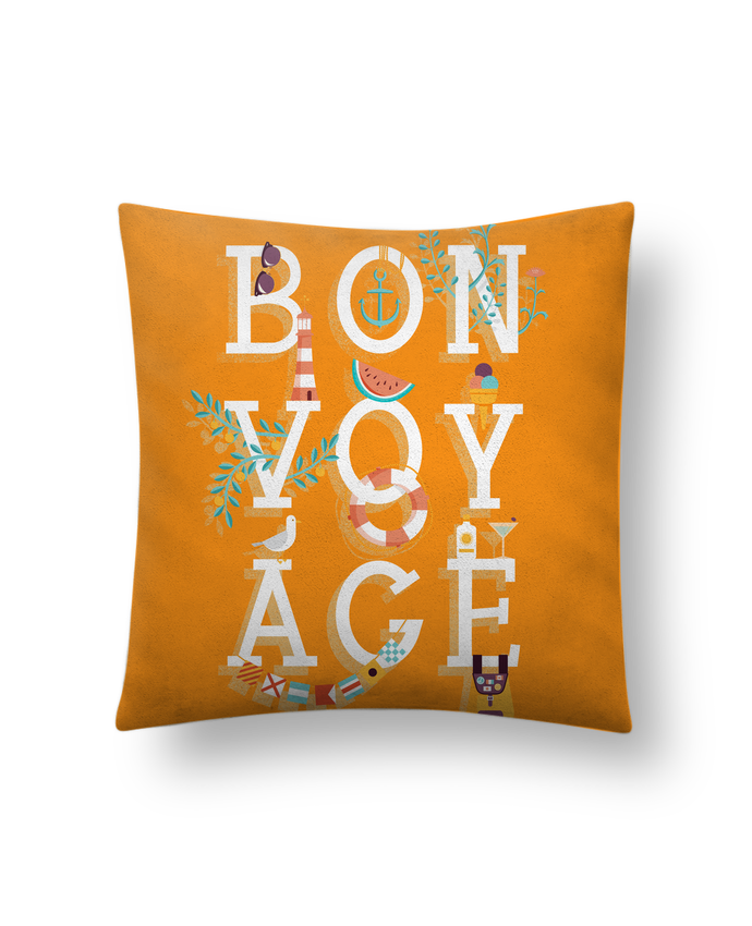 coussin toucher peau de p che 41 x 41 cm bon voyage chriswharton. Black Bedroom Furniture Sets. Home Design Ideas