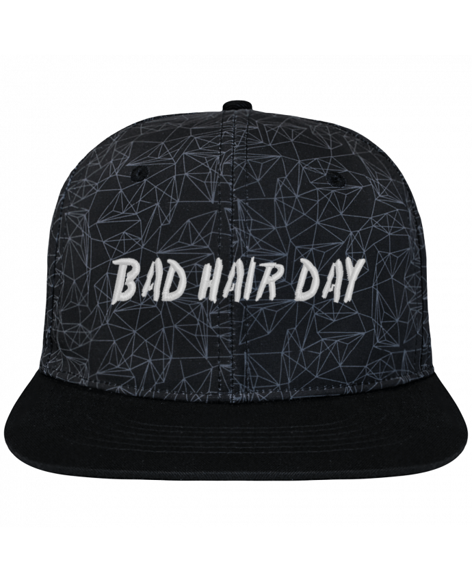 casquette snapback couronne graphique g om trique bad hair day brod coton et polyester tunetoo. Black Bedroom Furniture Sets. Home Design Ideas