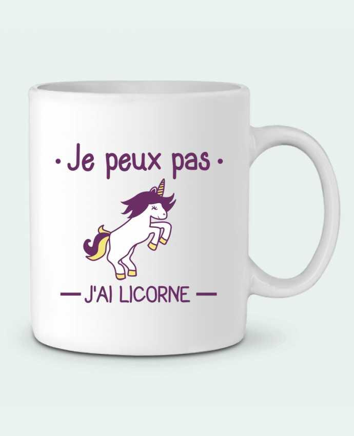 mug en c ramique je peux pas j 39 ai licorne benichan. Black Bedroom Furniture Sets. Home Design Ideas