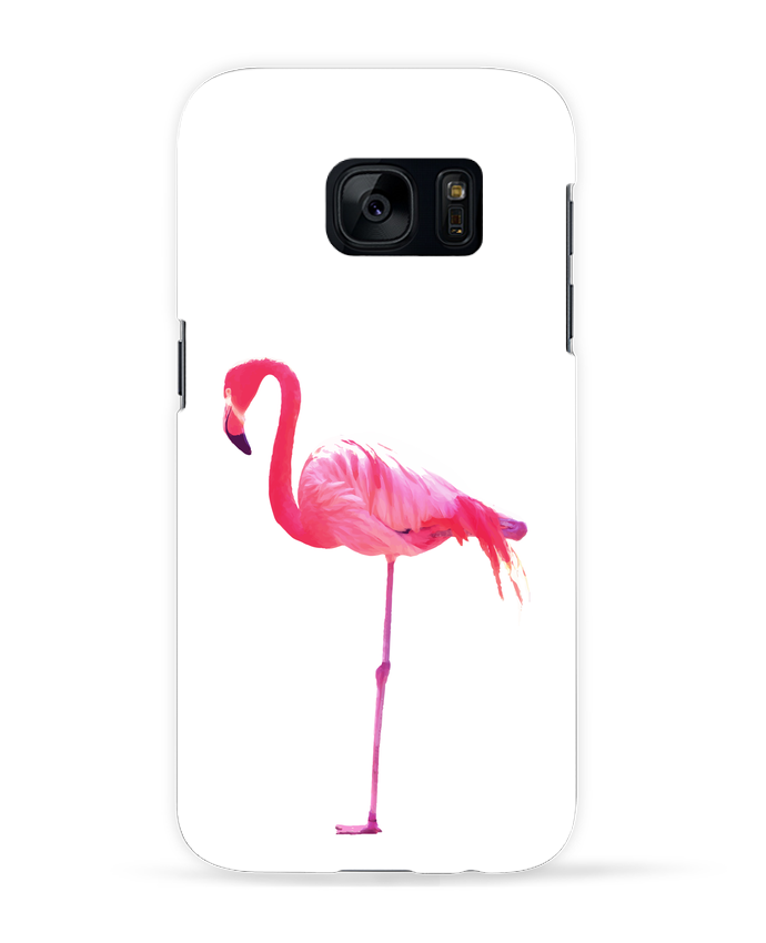 coque samsung s7 flamant rose