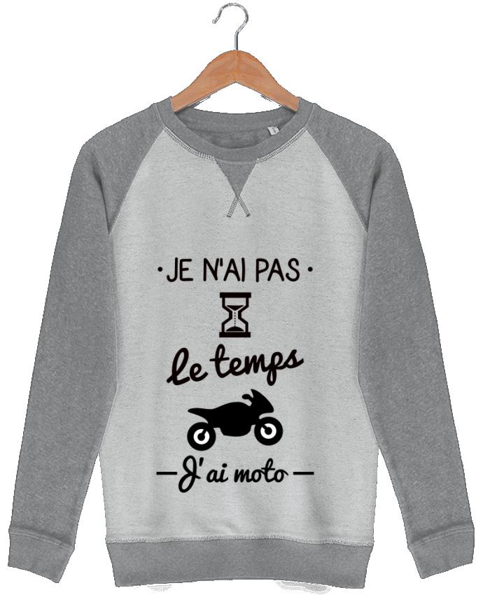 Sweat French Terry Pas le temps j'ai moto, motard par Benichan