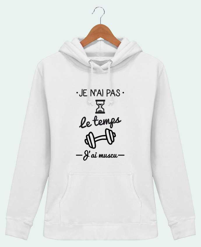 sweat capuche femme pas le temps j 39 ai muscu tee shirt. Black Bedroom Furniture Sets. Home Design Ideas