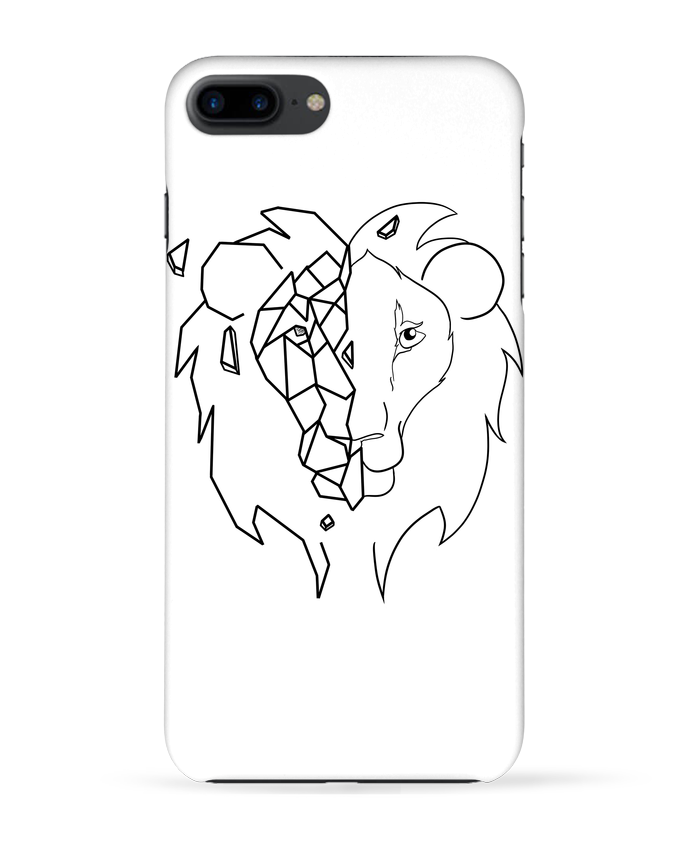 coque 3d iphone 7  tete de lion stylis u00e9e tasca