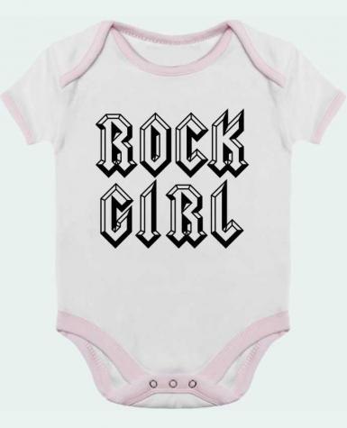 Body Bébé Contrasté Rock Girl par Freeyourshirt.com