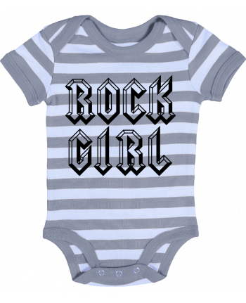 Body Bébé à Rayures Rock Girl - Freeyourshirt.com