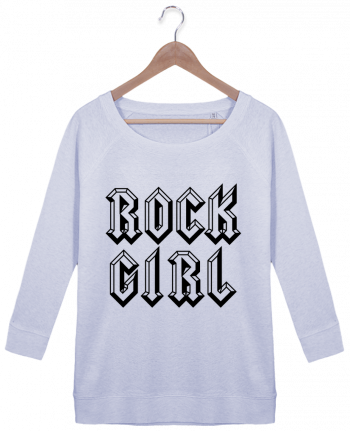 Sweat Manches 3/4 Femme Stella Amazes Tencel Rock Girl par Freeyourshirt.com