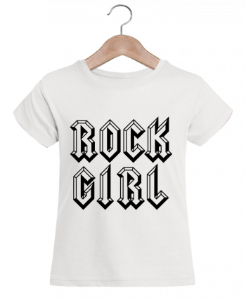 T-shirt Fille Mini Stella Draws Rock Girl par Freeyourshirt.com