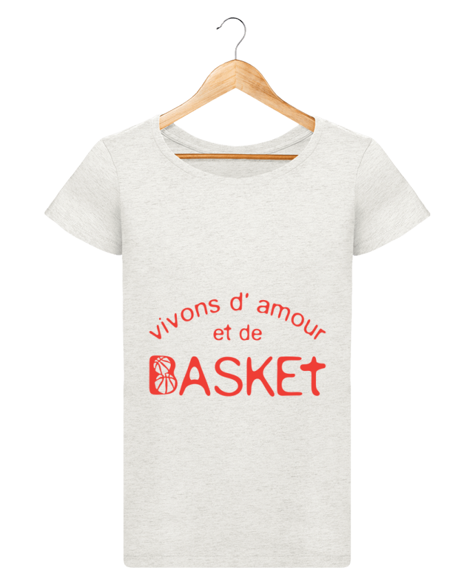 t shirt femme stella loves basketball vivons amour basket citation message achille. Black Bedroom Furniture Sets. Home Design Ideas