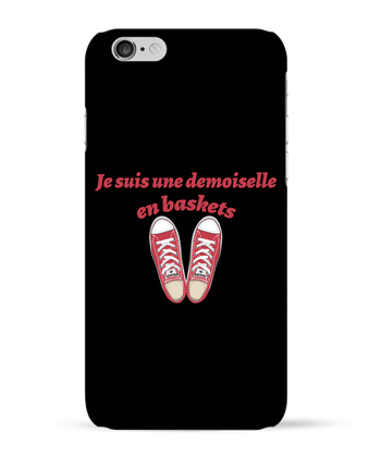 Coque 3D Iphone 6 Je suis une demoiselle en baskets par tunetoo